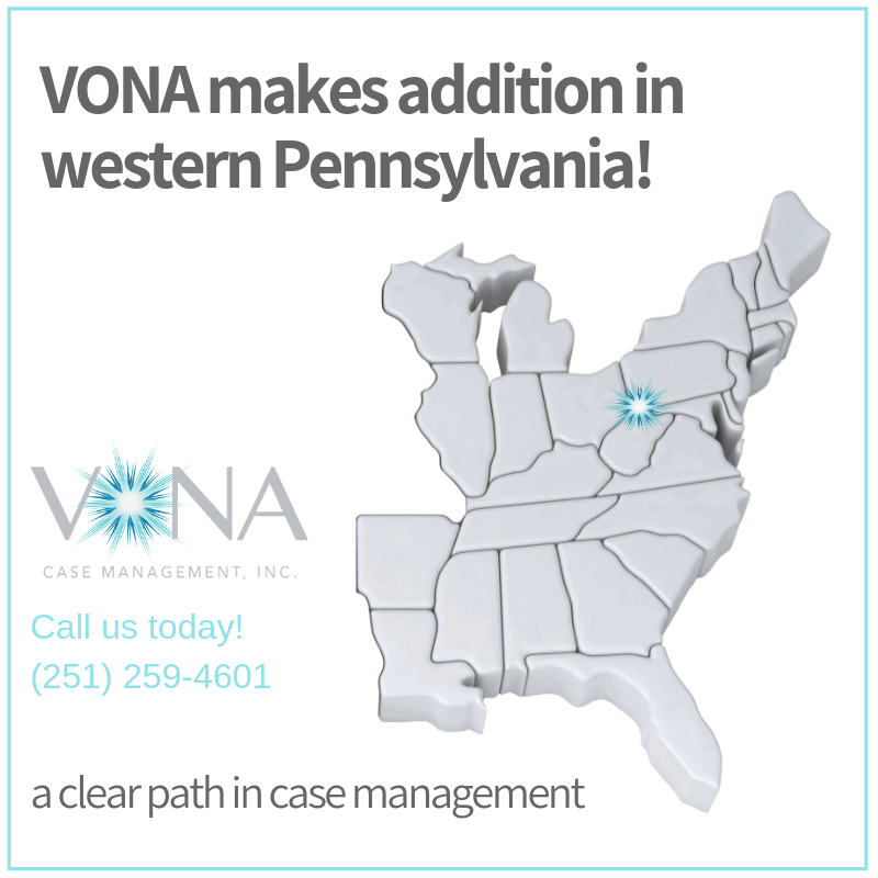 VONA Pennsylvania map